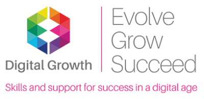 """""""Digital Growth - Evolve, Grow, Succeed. Skills and Support for success in a digital age"""""""