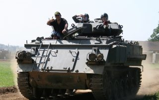 Tank and Military Vehicle experience at Amourgeddon, Lutterworth
