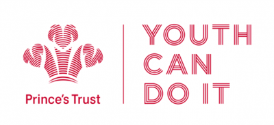 "Image reads: ""Prince's Trust - YOUTH CAN DO IT"" in red lettering featuring the Prince's trust emblem"
