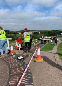 Volunteers at work at Foxton Locks with the Canal and River Trust