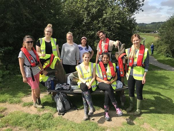 Joules Volunteers at Foxton Locks