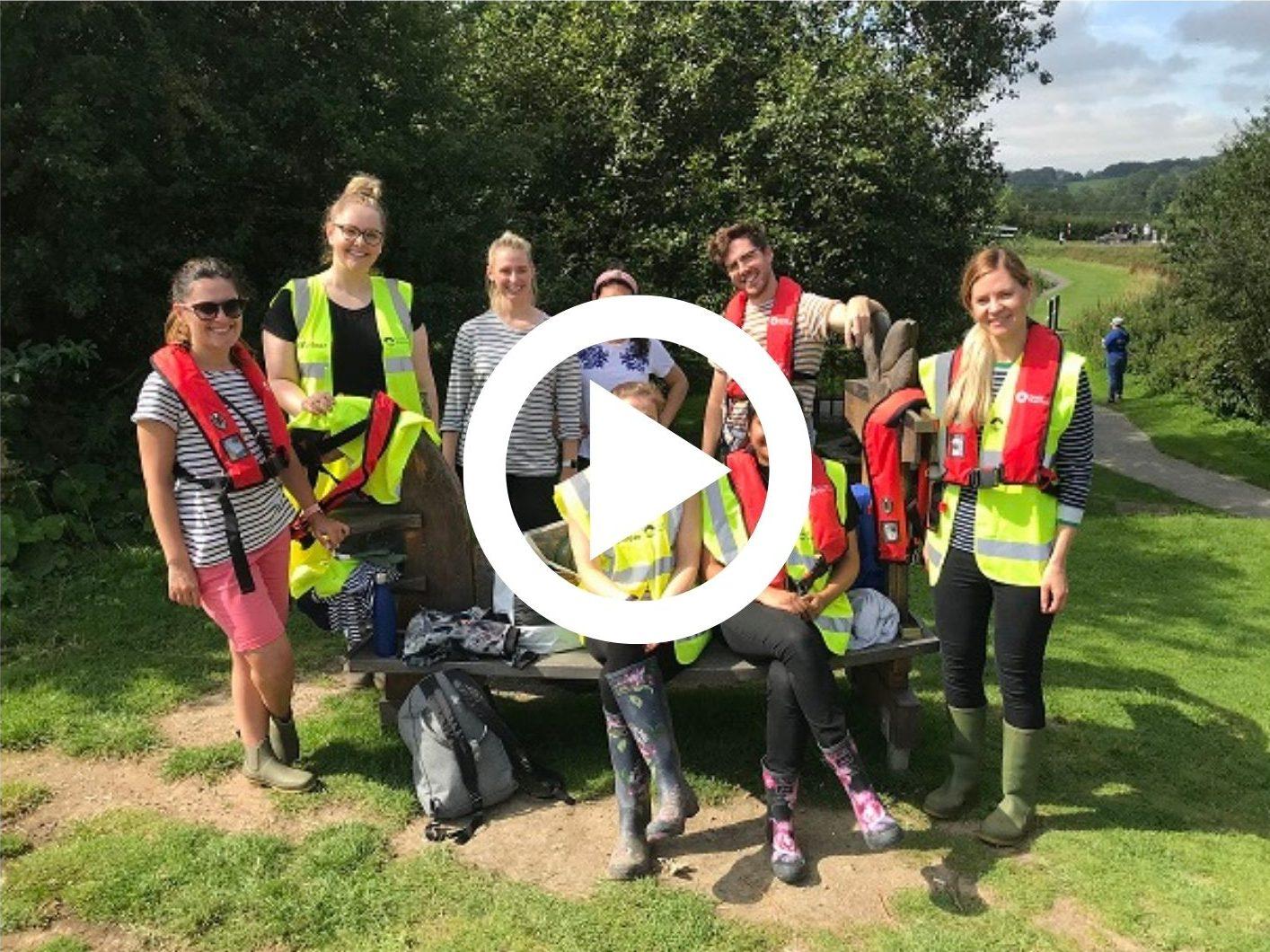 Joules Volunteers at Foxton Locks (Video)